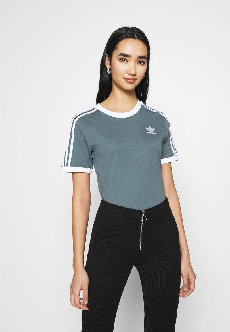adidas Originals - STRIPES TEE - T-shirt imprimé - blue oxide