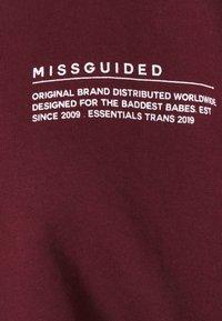 Missguided - CROPPED RAW HEM - Sweatshirt - burgundy - 2