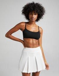 Bershka - Plisovaná sukně - white - 0