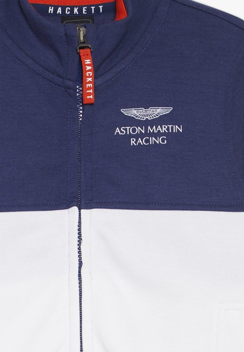 Hackett London Aston Martin Racing Full Zip Zip Up Hoodie Blue White Blue Zalando De