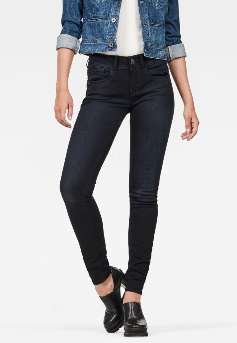 G-Star - LYNN MID SKINNY  NEW  - Jeans Skinny Fit - dark blue