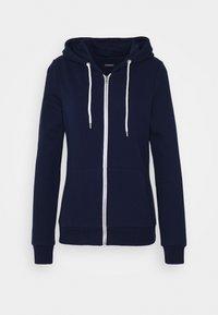 Regular Fit Zip Sweat Jacket Contrast Cord - Zip-up hoodie - dark blue