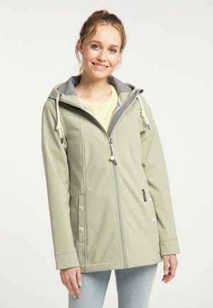 Soft shell jacket - pastelloliv