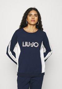 Liu Jo Jeans - FELPA CHIUSA - Sweatshirt - blu navy - 0