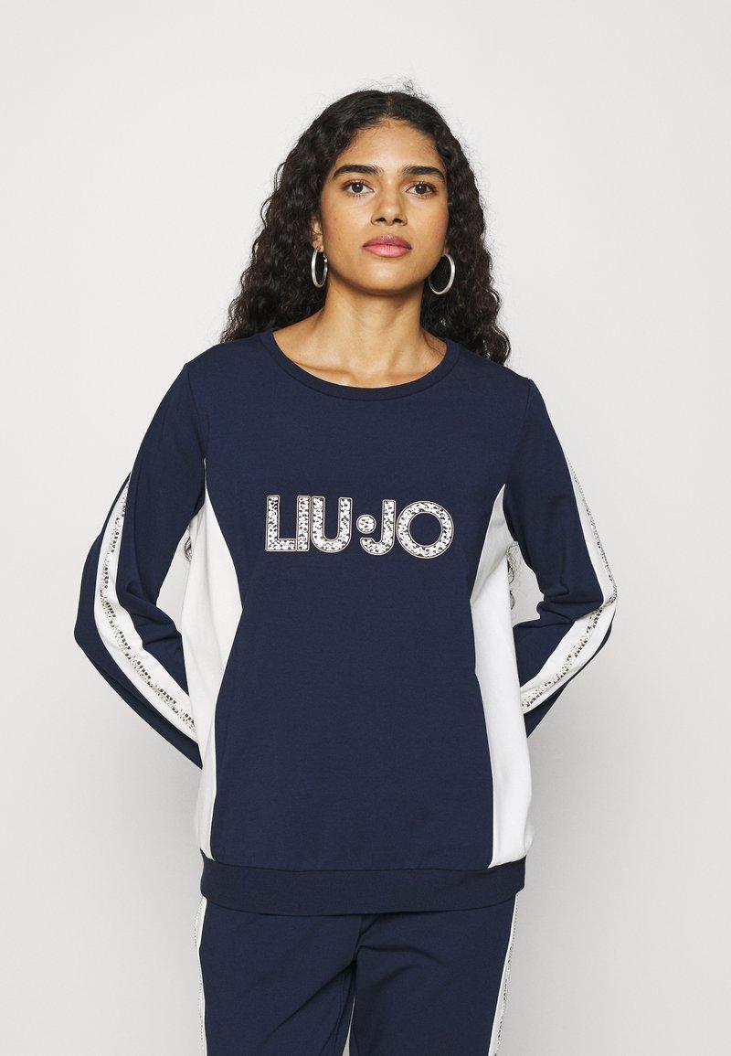 Liu Jo Jeans - FELPA CHIUSA - Sweatshirt - blu navy