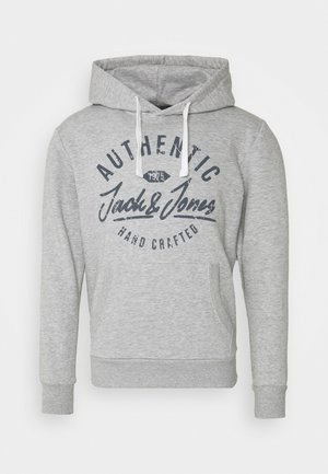 JJHEROS HOOD - Hoodie - light grey melange