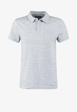 Polo shirt - light blue melange