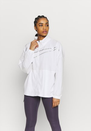 Training jacket - white/metallic silver