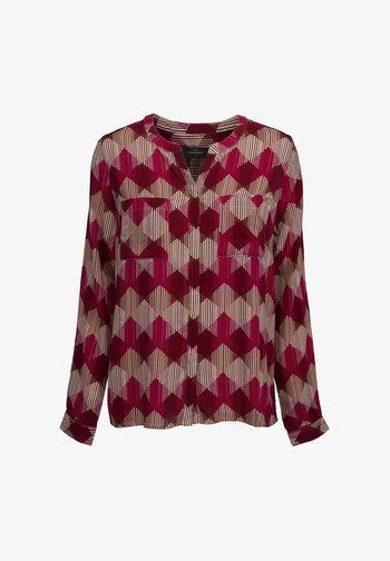 Blouse - maroon red