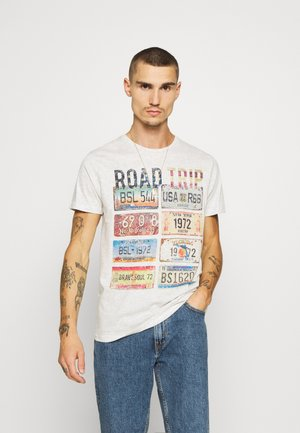DAKOTA - Print T-shirt - ecru marl