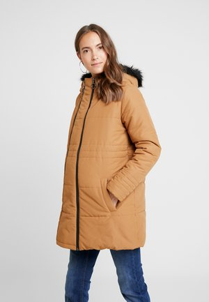 MLLEXI PADDED JACKE 3IN1 - Halflange jas - tobacco brown/black