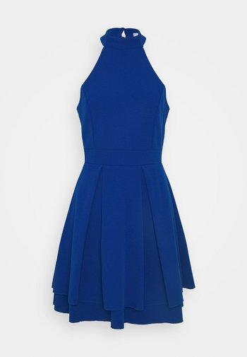 CHERYL HALTER NECK SKATER DRESS - Žerzejové šaty - cobalt blue