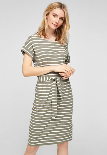 ROBE  - Day dress - summer khaki stripes