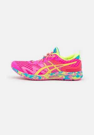 GEL-NOOSA TRI 12 - Obuwie do biegania startowe - pink glo/safety yellow