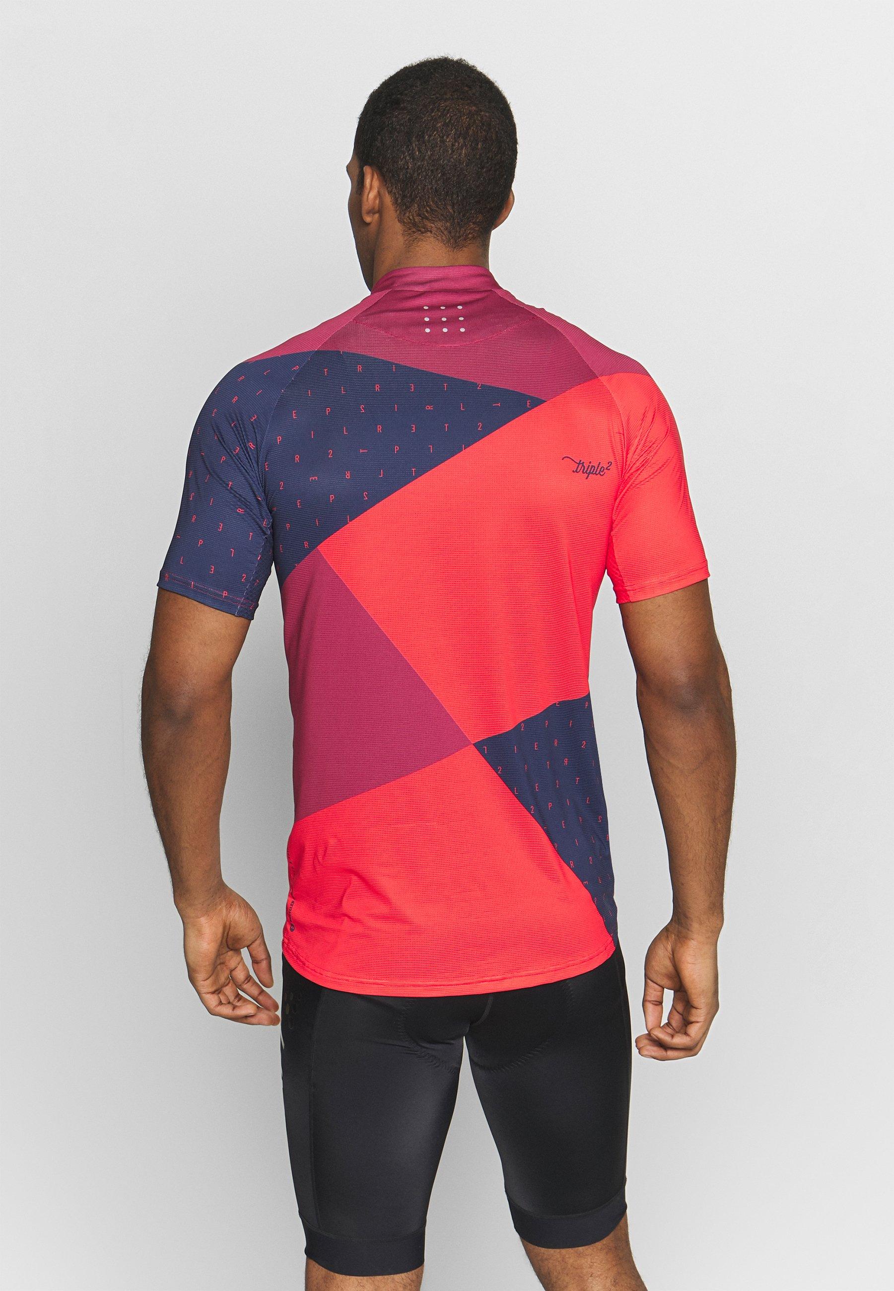 Triple2 MEN - T-shirt imprimé - beet red