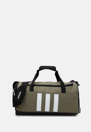 ESSENTIALS 3 STRIPES SPORTS DUFFEL BAG UNISEX - Sports bag - legend green/black/white