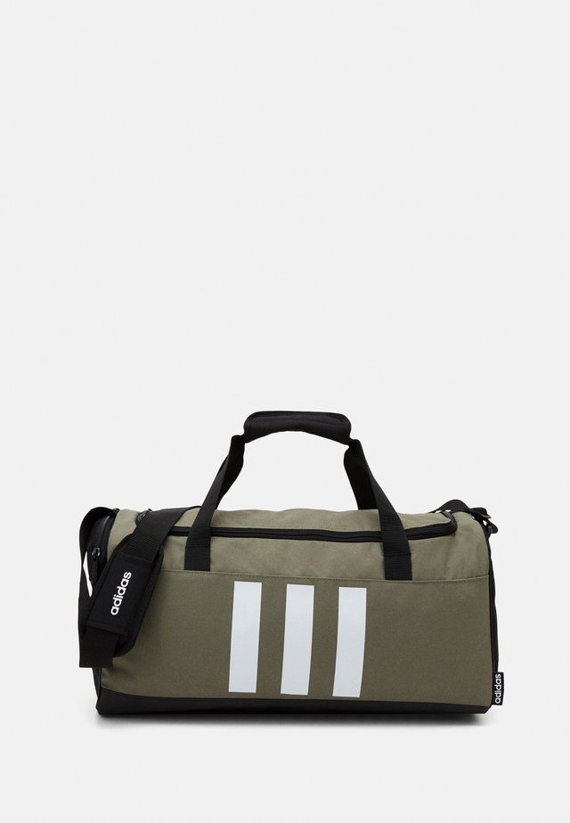 ESSENTIALS 3 STRIPES SPORTS DUFFEL BAG UNISEX - Sac de sport - legend green/black/white