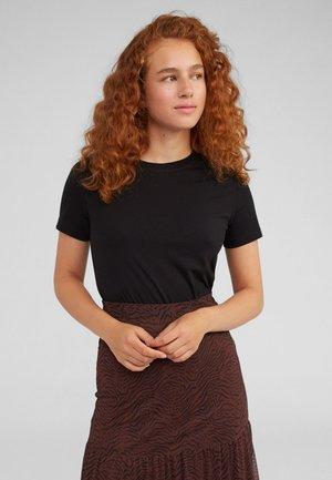 LEILA - Basic T-shirt - black