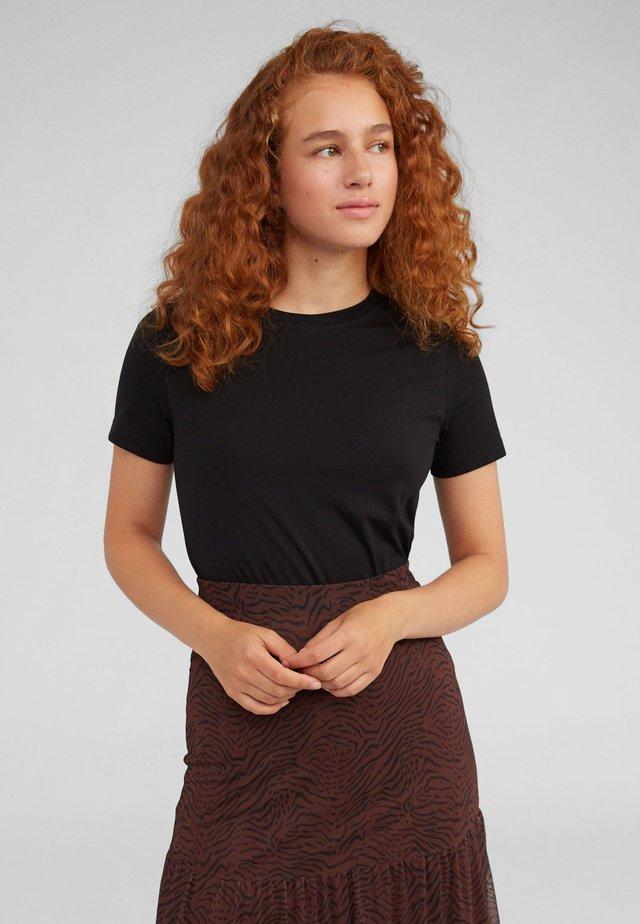LEILA - T-shirt - bas - black