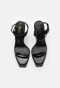 RAID - RIMAYA - High heeled sandals - black crinkle - 5