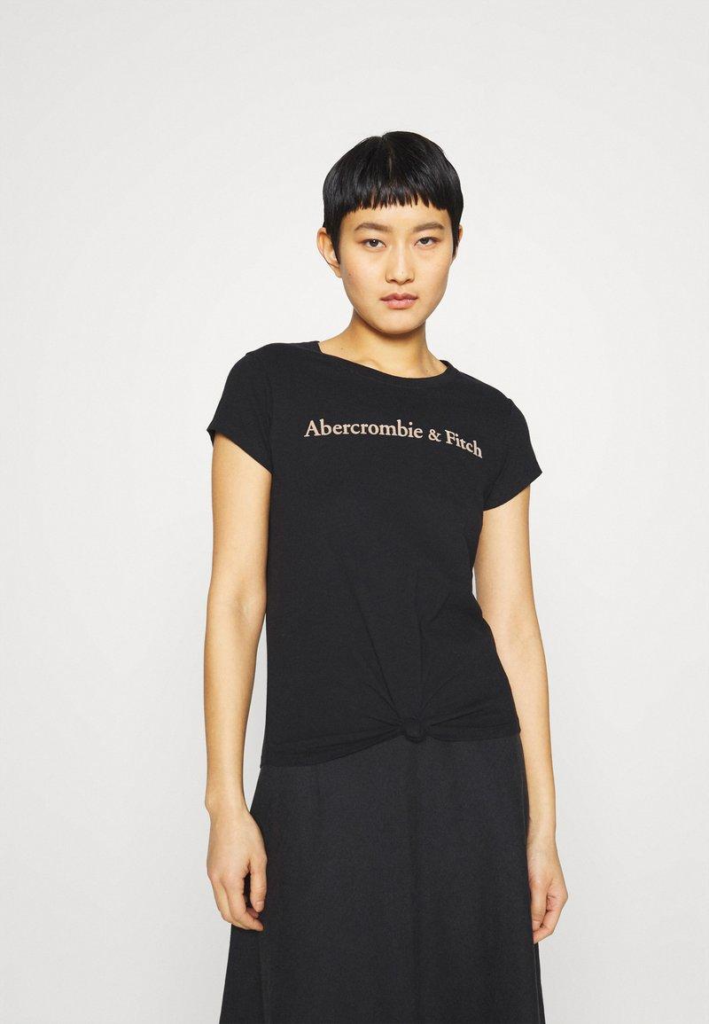 Abercrombie & Fitch - LOGO TEE - Print T-shirt - black