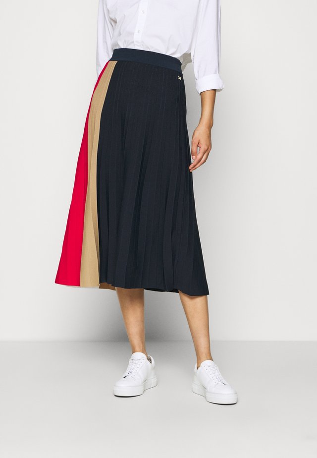 ICON PLEATED SKIRT - Spódnica trapezowa - desert sky