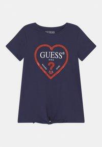 Guess - JUNIOR  - T-shirt z nadrukiem - dark blue - 0