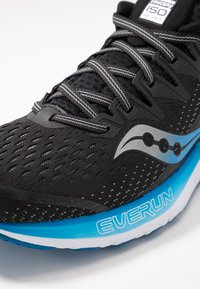 Saucony - RIDE ISO 2 - Neutral running shoes - black/blue - 5