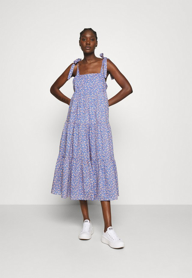 TIE STRAP - Day dress - summer vines blue