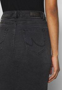 LTB - MIRAH - Denimová sukně - black denim - 4