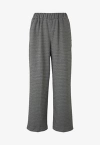 TOM TAILOR DENIM - MIT HAHNENTRITTMUSTER - Trousers - grey - 0