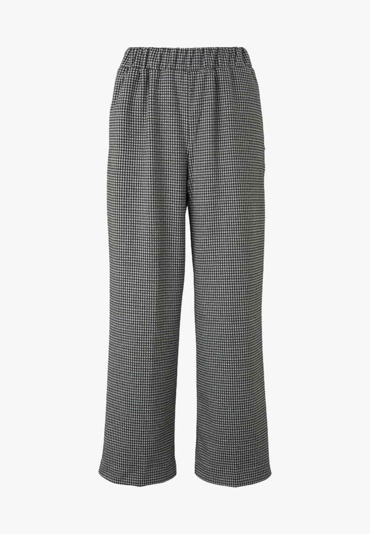 TOM TAILOR DENIM - MIT HAHNENTRITTMUSTER - Trousers - grey