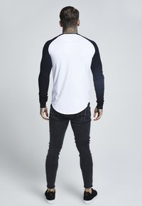 SIKSILK - RAGLAN LONG SLEEVE - Long sleeved top - black/white - 2