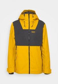 BLOCK JACKET - Snowboard jacket - yellow