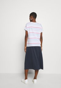 Marc O'Polo DENIM - SHORT SLEEVE A SHAPED DYE STRIPE - Print T-shirt - multi/scandinavian white - 3