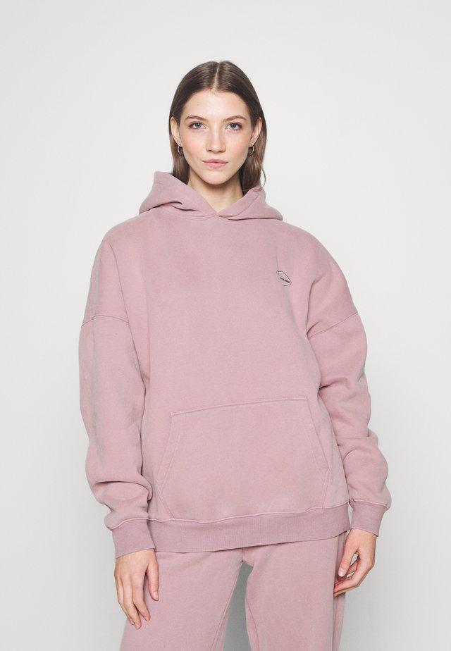 LOGOHOODIE - Sweater - stonepurple