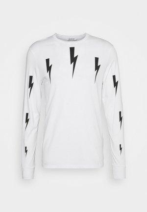 HALO BOLTS PRINT - Camiseta de manga larga - white/black