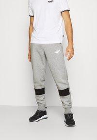 Puma - COLORBLOCK PANTS - Pantalon de survêtement - medium gray heather - 0