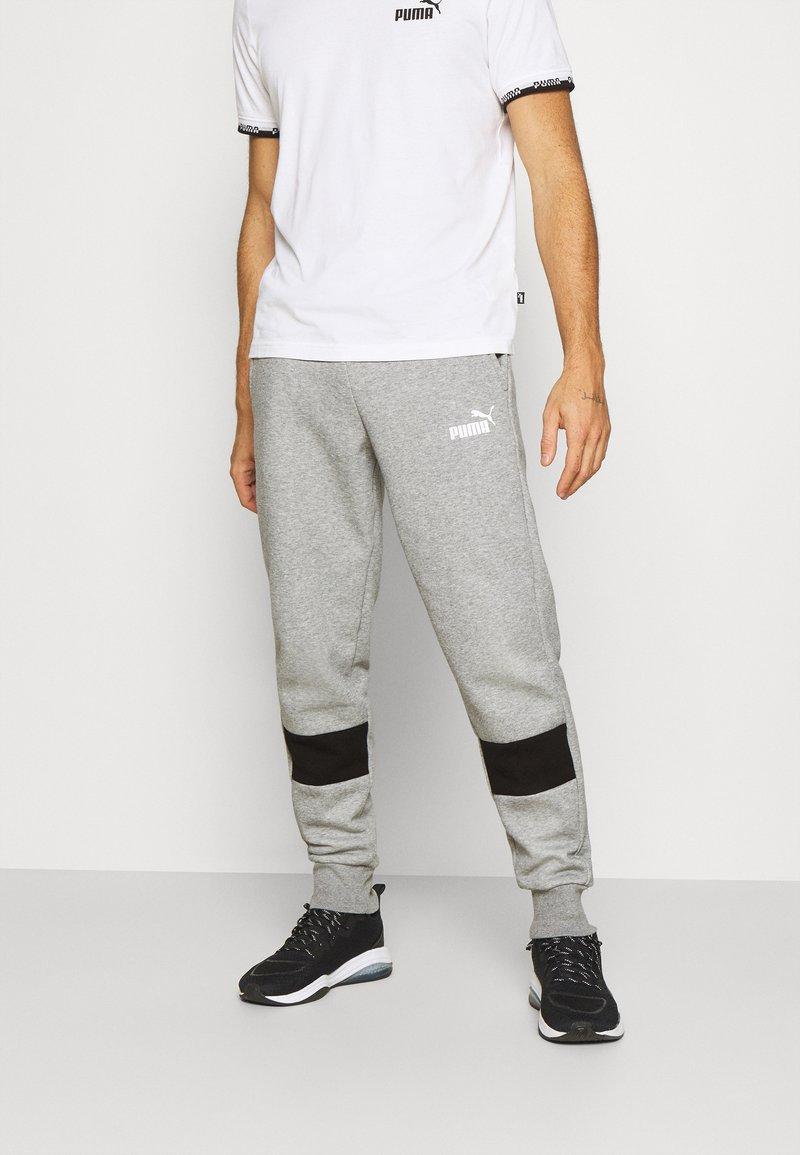 Puma - COLORBLOCK PANTS - Pantalon de survêtement - medium gray heather