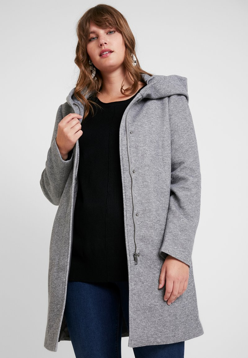 Vero Moda Curve - VMVERODONA - Short coat - light grey melange