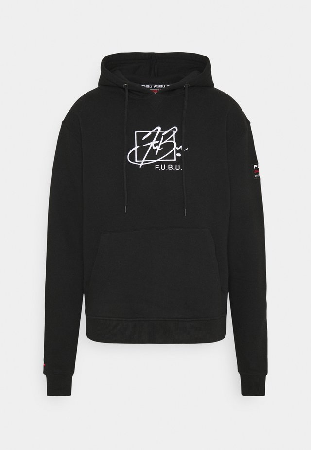 SCRIPT HOODED - Sweatshirt - black