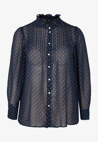 Zizzi - Button-down blouse - dark blue - 3