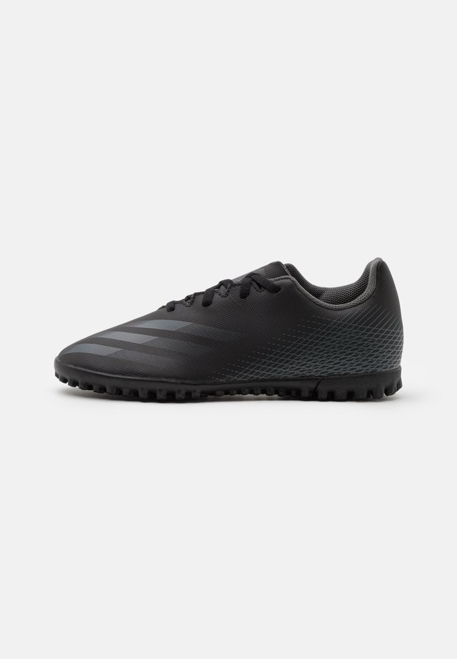 X GHOSTED.4 TF UNISEX - Fotbollsskor universaldobbar - core black/grey six