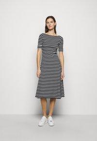 Lauren Ralph Lauren - Jersey dress - black/white - 0