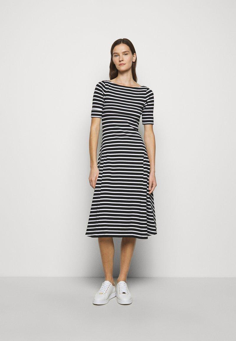 Lauren Ralph Lauren - Jersey dress - black/white