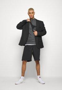 CLOSURE London - PANELLED CHECKED TRACKTOP - Sweatshirt - charcoal - 1