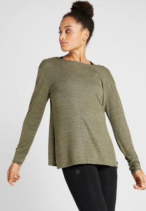 BACK TWIST LONG SLEEVE - Svetr - khaki