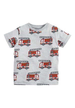 GREY SHORT SLEEVE FIRE ENGINE T-SHIRT (3MTHS-7YRS) - Print T-shirt - grey