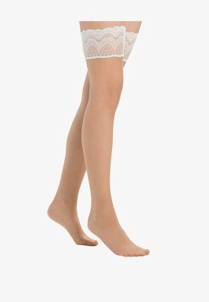FALKE INVISIBLE DELUXE 8 DENIER STAY UPS ULTRA-TRANSPARENT MATT - Calze parigine - nude