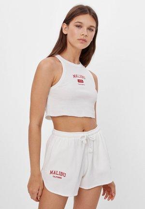 BESTICKTE SHORTS 05164660 - Shorts - white